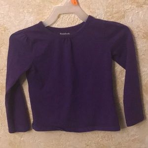 Cute long sleeved purple tee 4T